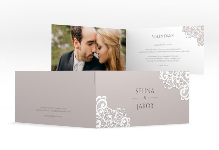"""Dankeskarte Hochzeit """"Vintage"""" DIN lang Klappkarte"""