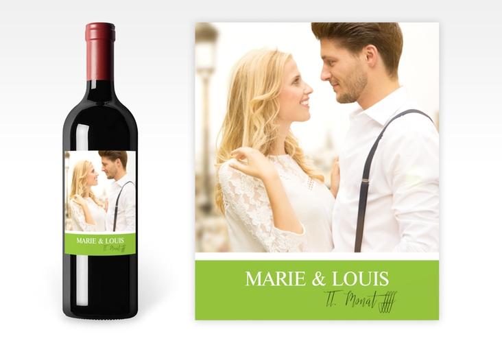 """Weinetikett zur Hochzeit """"Balance"""" Etikett Weinflasche 4er Set gruen"""