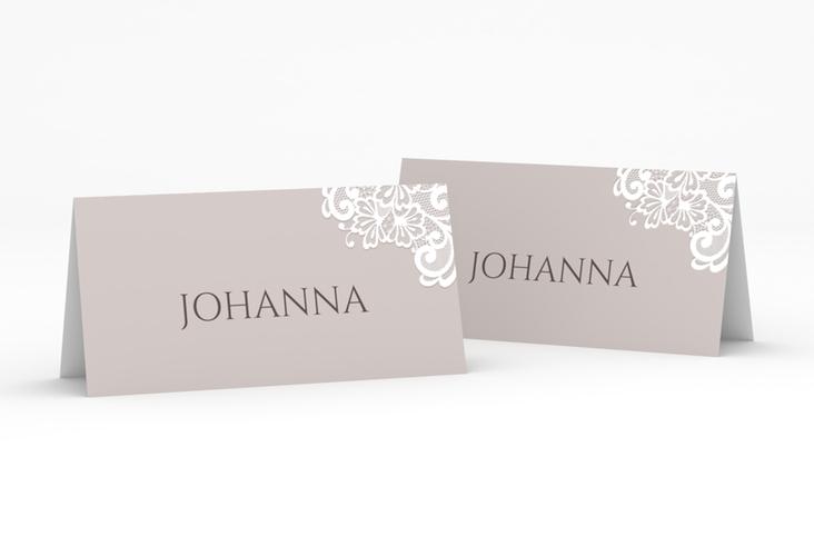 """Tischkarte Hochzeit """"Vintage"""" Tischkarten grau"""