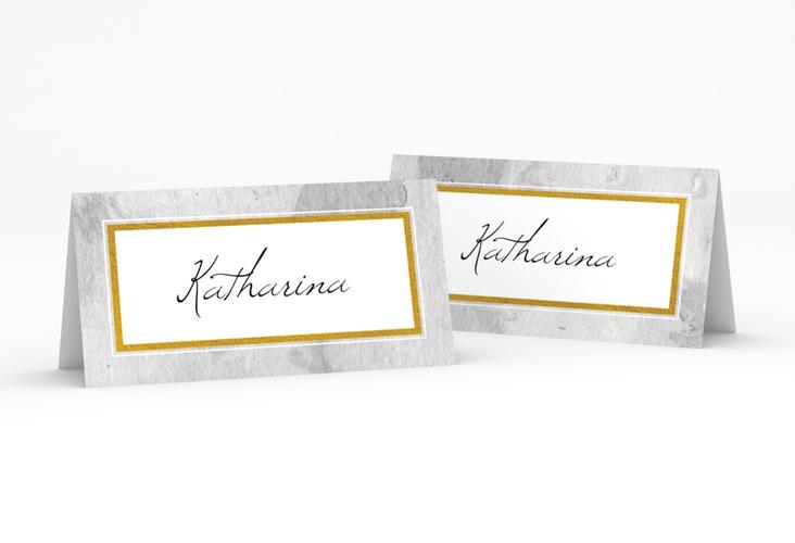 """Tischkarte Hochzeit """"Marble"""" Tischkarten grau"""