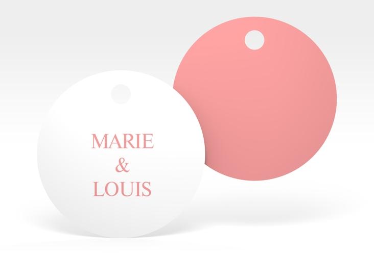"""Geschenkanhänger Hochzeit """"Balance"""" Geschenkanhänger, rund rosa"""