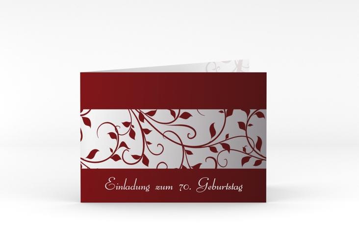 """Einladungskarte """"Hermann/Hermine"""" A6 Klappkarte Quer rot"""