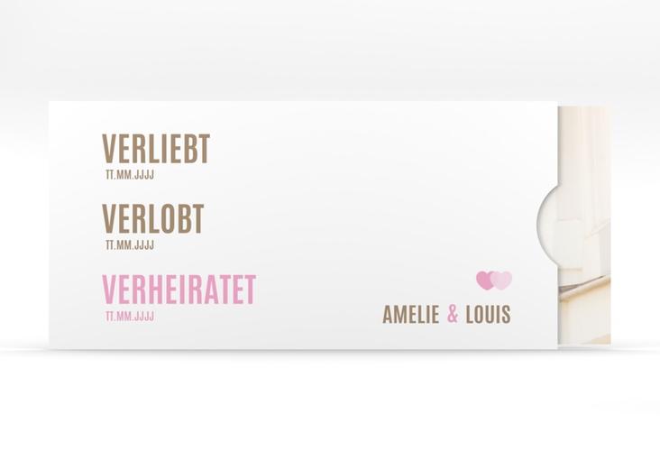 """Hochzeitseinladung """"Couple"""" Einsteckkarte rosa"""