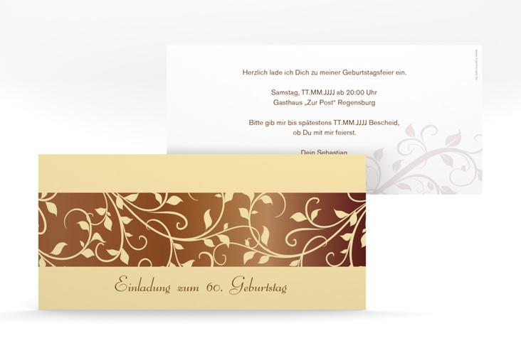 """Einladungskarte """"Hermann/Hermine"""" DIN lang braun"""