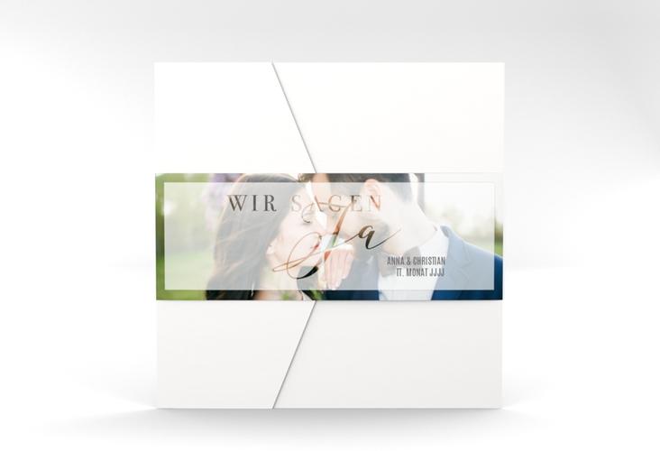 """Hochzeitseinladung """"Amazing"""" Pocketfold weiss"""