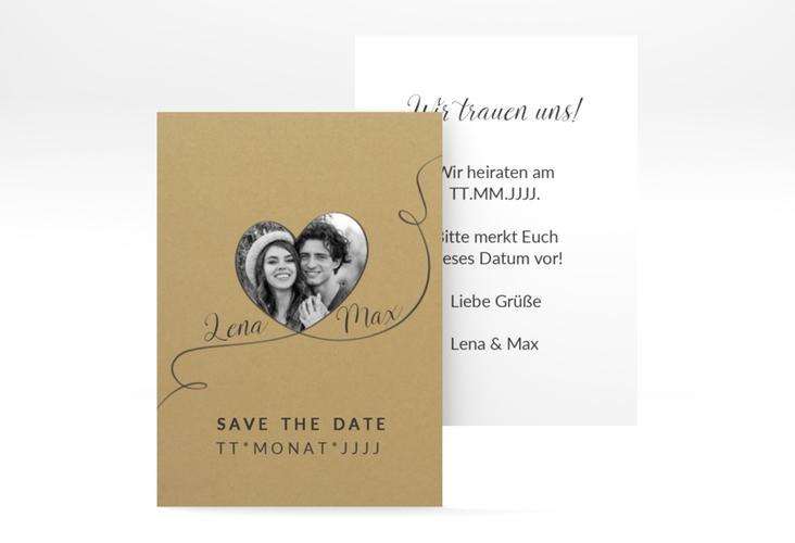 "Save the Date-Visitenkarte ""Herzensbund"" Visitenkarte"