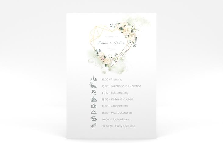 """Tagesablauf Poster Hochzeit """"Adore"""" 50 x 70 cm Poster gruen"""