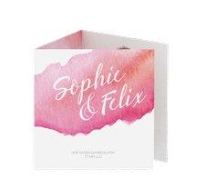 "Danksagungskarte Hochzeit ""Aquarella"""