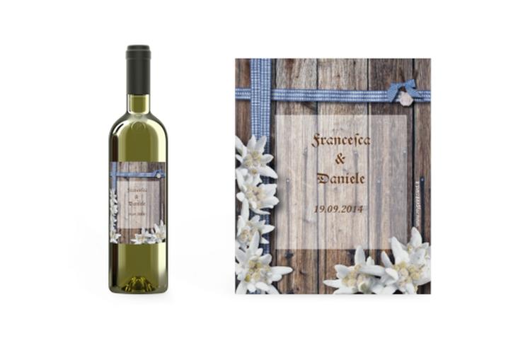 Etichette vino matrimonio collezione Monaco Etikett Weinflasche 4er Set