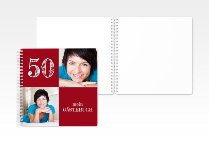 "Gästebuch Geburtstag ""Lebensfreude"" Ringbindung"