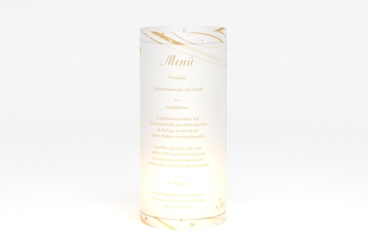 """Windlicht Menü Hochzeit """"Mailand"""" Windlicht beige"""
