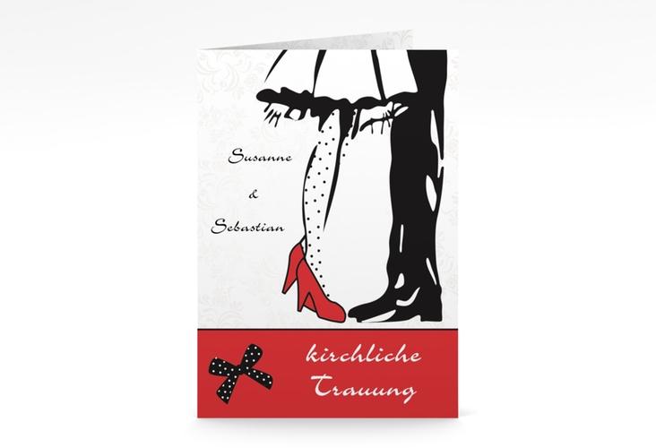"""Kirchenheft Hochzeit """"Straßburg"""" DIN A5 geklappt rot"""