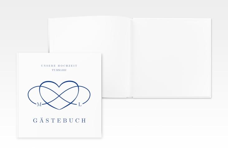"Gästebuch Creation Hochzeit ""Infinity"" 20 x 20 cm, Hardcover blau"