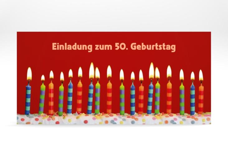 "Einladungskarte ""Candles"" DIN lang"