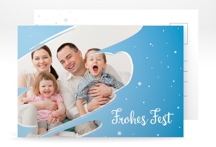 "Weihnachtskarte ""Ice"" A6 Postkarte"