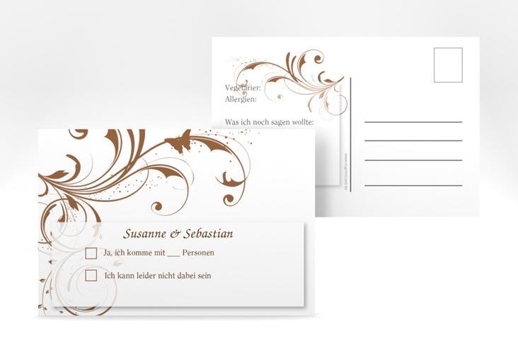 """Antwortkarte Hochzeit """"Palma"""" A6 Postkarte"""