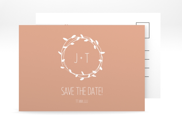"Save the Date-Postkarte ""Laurel"" A6 Postkarte"