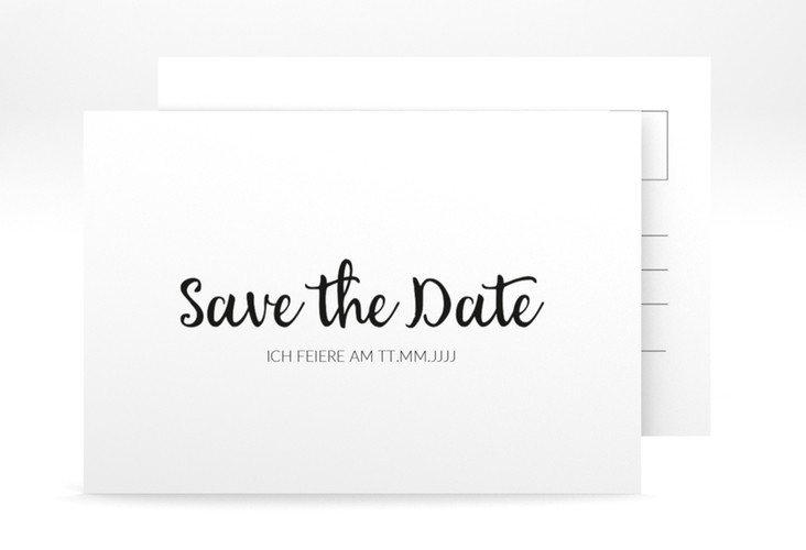 "Save the Date-Postkarte ""Handwriting"" A6 Postkarte"
