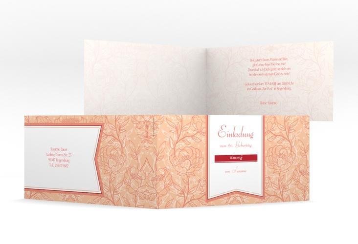 "Einladungskarte ""Marta"" DIN lang Klappkarte"
