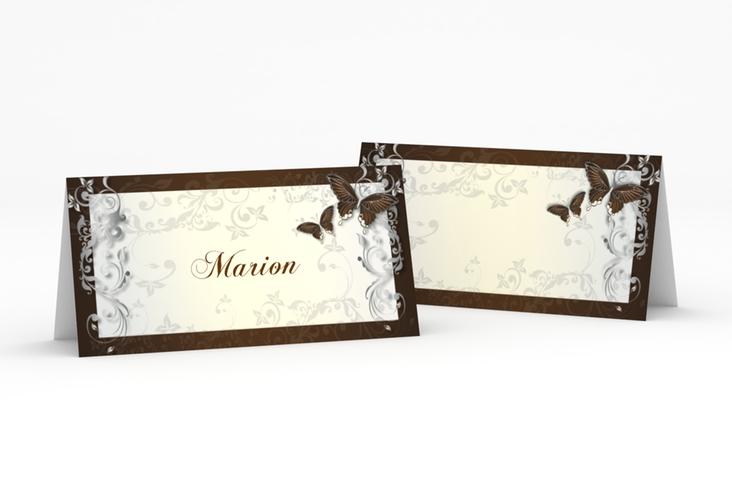 """Tischkarte Hochzeit """"Toulouse"""" Tischkarten braun"""