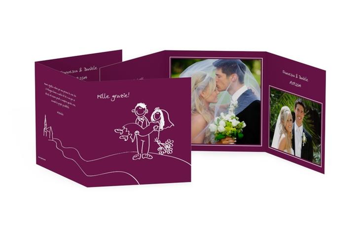 Ringraziamenti matrimonio collezione Pisa Quadr. Karte doppelt