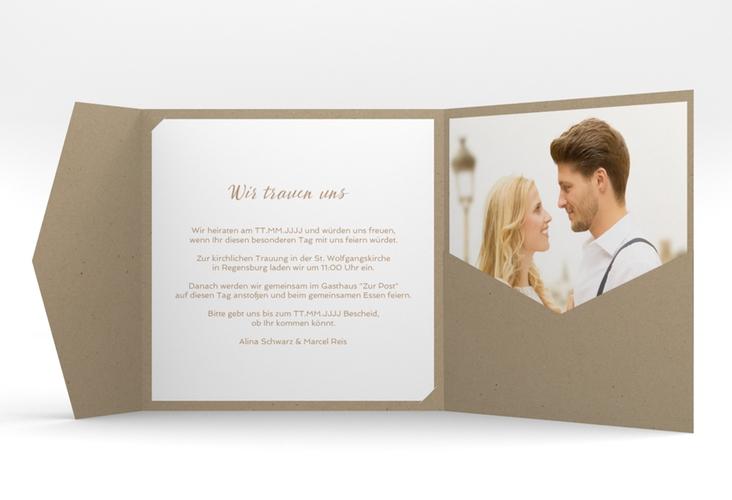 """Hochzeitseinladung """"Glam"""" Pocketfold"""