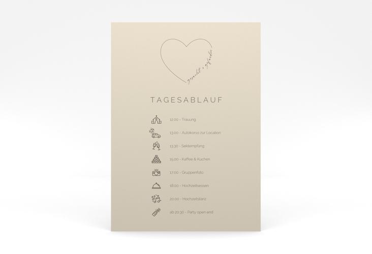 """Tagesablauf Poster Hochzeit """"Lebenstraum"""" 50 x 70 cm Poster"""