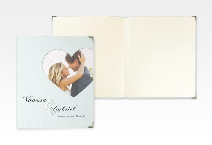 """Hochzeitsalbum """"Sweetheart"""" 21 x 25 cm tuerkis"""