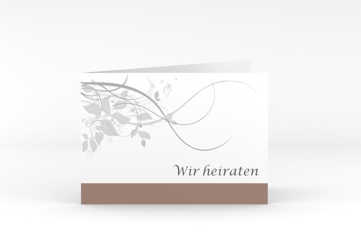 """Hochzeitseinladung """"Florenz"""" A6 Klappkarte Quer"""