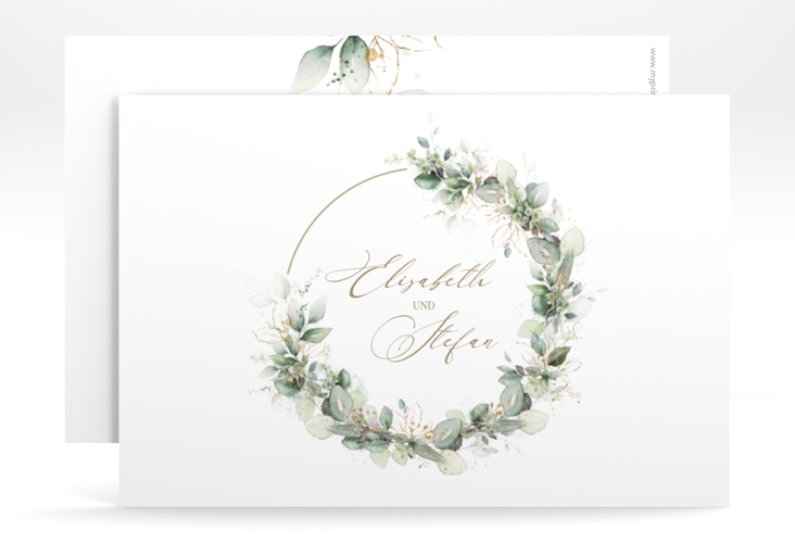 """Save the Date-Karte """"Selvatica"""" A6 quer weiss"""