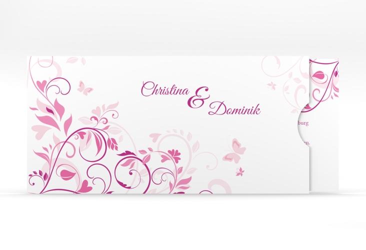 """Hochzeitseinladung """"Lilly"""" Einsteckkarte pink"""