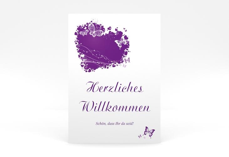 "Willkommensschild Poster ""Mailand"" 50 x 70 cm Poster lila"