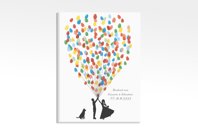 Wedding Tree – Ballons Beatrice Dog bis zu 80 Gäste 30x40 cm 30 x 40 cm