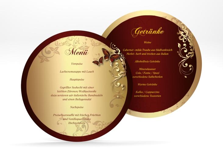 """Menükarte Hochzeit """"Toulouse"""" rund"""