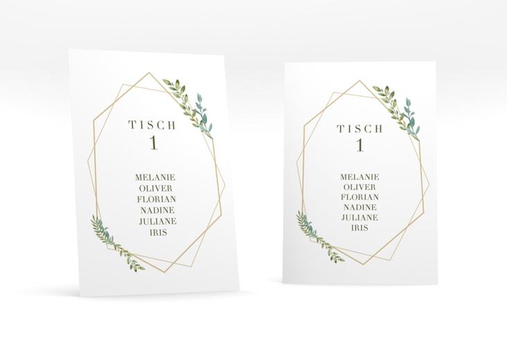 """Tischaufsteller Hochzeit """"Herbarium"""" Tischaufsteller gold"""