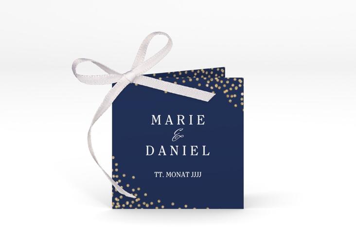 """Geschenkanhänger Hochzeit """"Glitter"""" Geschenkanhänger 10er Set blau"""