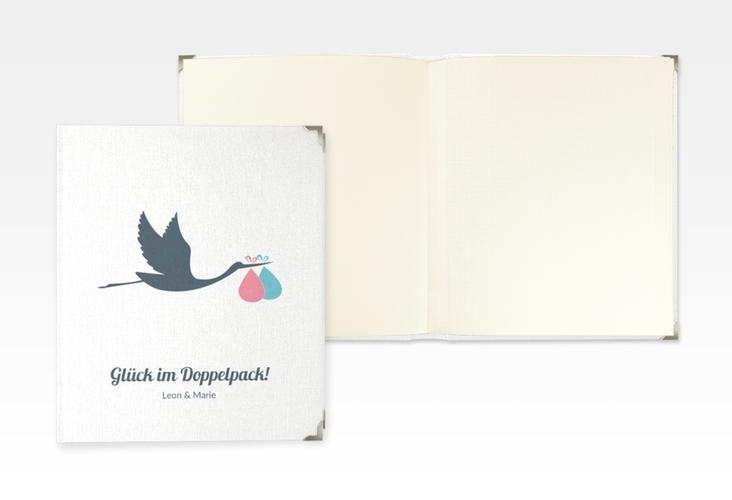 """Baby Fotoalbum """"Doppelpack"""" 21 x 25 cm weiss"""
