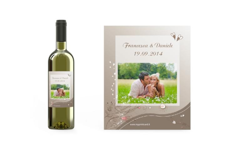 Etichette vino matrimonio collezione Taranto Etikett Weinflasche 4er Set