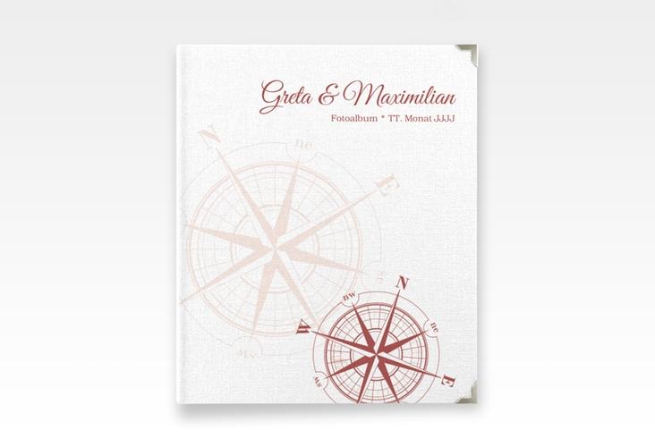 """Hochzeitsalbum """"Windrose"""" 21 x 25 cm rot"""