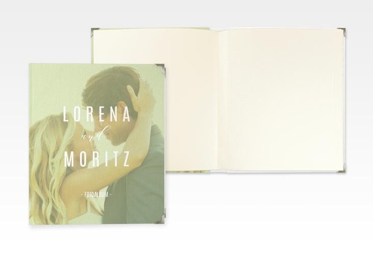 """Hochzeitsalbum """"Memory"""" 21 x 25 cm gruen"""