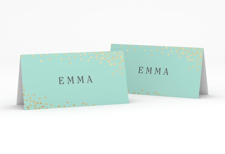 """Tischkarte Hochzeit """"Glitter"""" Tischkarten mint"""