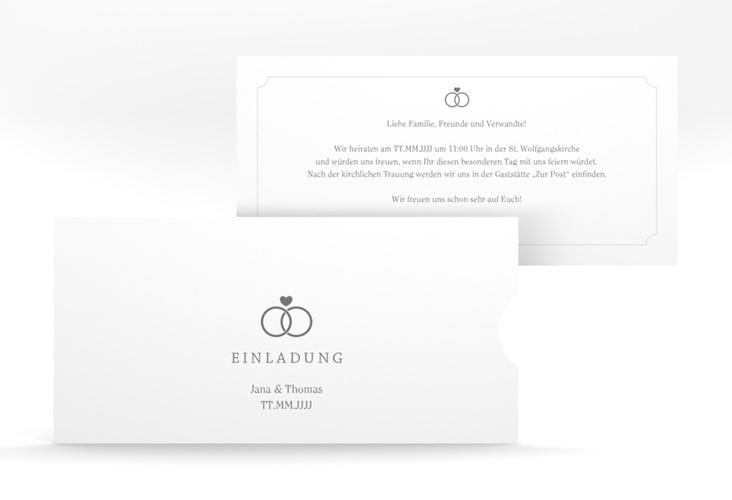 """Hochzeitseinladung """"Avery"""" Einsteckkarte weiss"""
