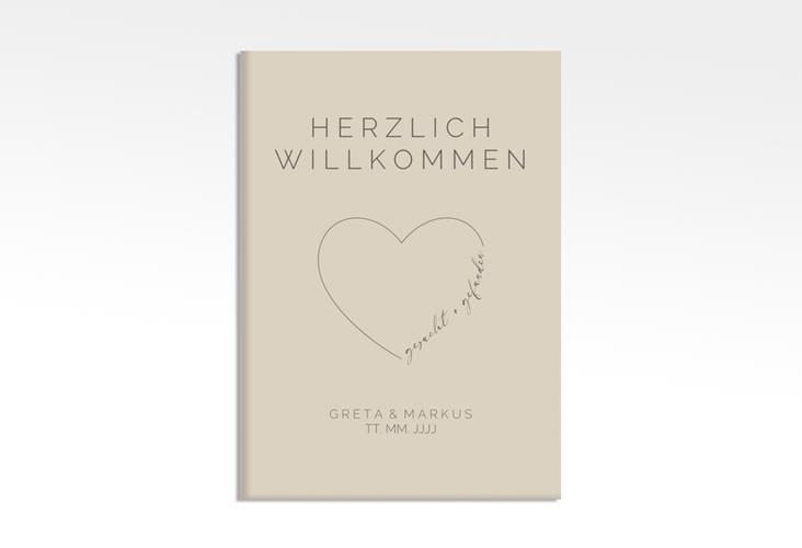"""Willkommensschild Leinwand """"Lebenstraum"""" 50 x 70 cm Leinwand"""