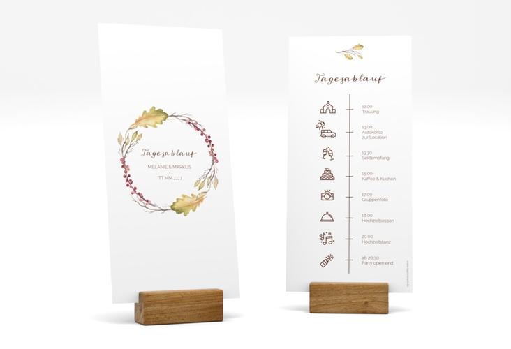 """Tagesablauf Hochzeit """"Herbsthochzeit"""" DIN lang hoch"""
