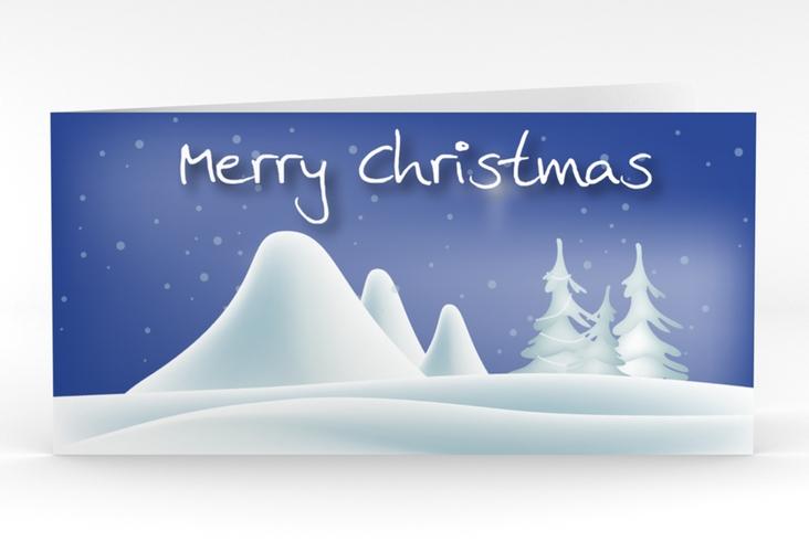 """Weihnachtskarte """"Freeze"""" DIN lang Klappkarte"""