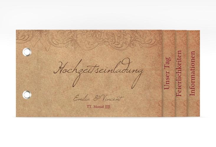 """Hochzeitseinladung """"Fairytale"""" Booklet"""