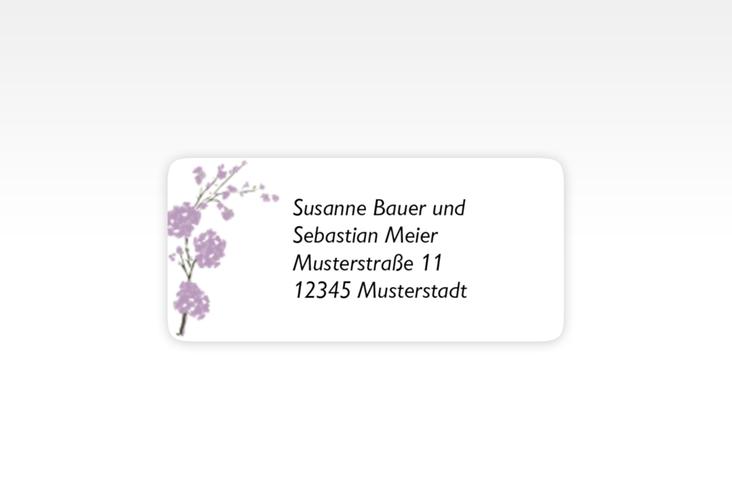 """Absenderetikett Hochzeit """"Salerno"""" 45,7 x 21,2 mm flieder"""