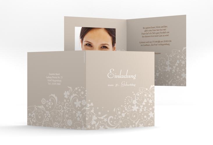 """Einladungskarte """"Magdalena"""" Quadratische Klappkarte"""