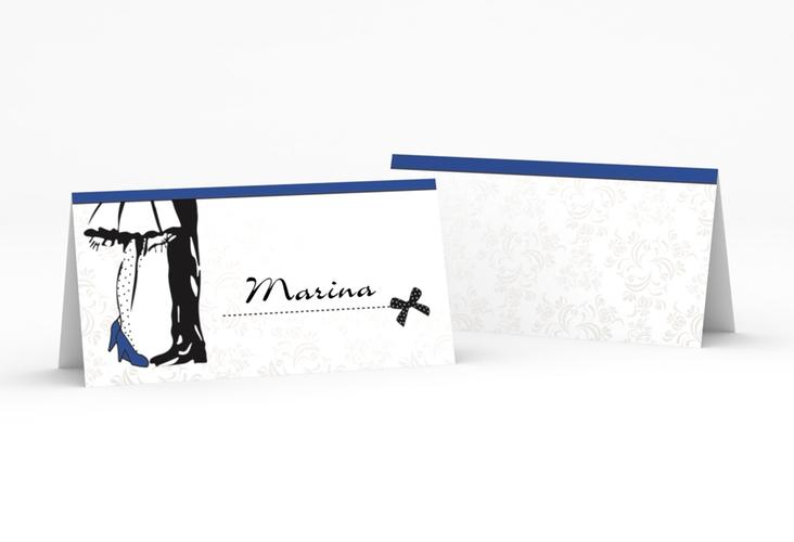 """Tischkarte Hochzeit """"Straßburg"""" Tischkarten blau"""
