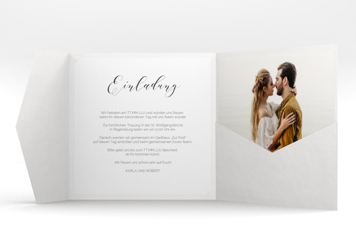 """Hochzeitseinladung """"Promise"""" Pocketfold"""